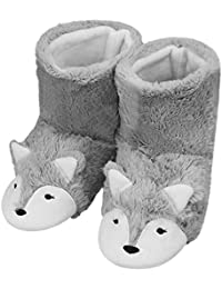 Fox Inspired Thicken Fluffy Sock Slippers Ankle Bootie Anti-Skid Winter  Thermal Warm House Slippers Boot Footwear Shoes For Birthday… 74f98ed8e822