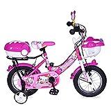 Byox Kinderfahrrad 12 Zoll 1282 rosa mit Stützräder, Fahrradklingel, Korb, ab 3 Jahre