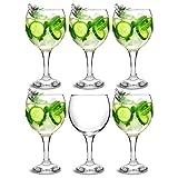City Gin Ballon Gläser Glas 623/645ml, 6Stück–Copa de Ballon Gin & Tonic Cocktail Gläser