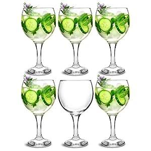 bar@drinkstuff City Gin-Ballon-Gläser, für Cocktails, 645ml, 6Stück