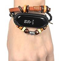 Para xiaomi mi band 3 correa ,❤️Amlaiworld Pulsera de cuero con correa Reemplazo de pulsera tejida trenzada Para Xiaomi Mi Band 3 banda de reloj Reemplazo de smartwatch Pulseras de repuesto Muñequeras Deportes Para Mujer Hombre (marrón, Para Xiaomi Mi Band 3)