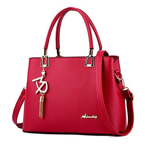 Dreamaccess , Damen Tote-Tasche Medium, rot - weinrot - Größe: Medium (Leder Rot Louis Vuitton)