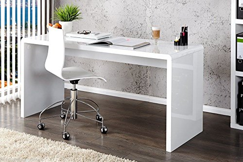 New ENZO White High Gloss Computer PC Home Executive Study Office Corner Desk - Search Furniture