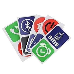 SODIAL(R)10pcs intelligentes NFC tags autocollants pour Samsung Galaxy S5 S4 Note 3 Nokia Lumia 920 Sony Xperia Nexus 5