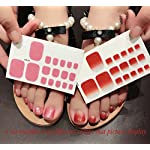 QCBC Full Nail Toes Stickers,Gradient color Style 20 Decals/sheet (Pack of 2 Sheets) 8