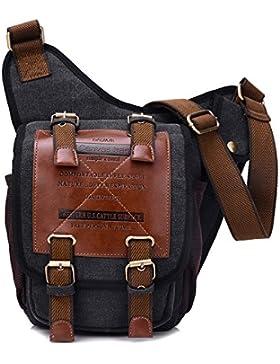 Leinwand Messenger Bag Umhängetasche aus Segeltuch Tasche Umhängetasche für Männer