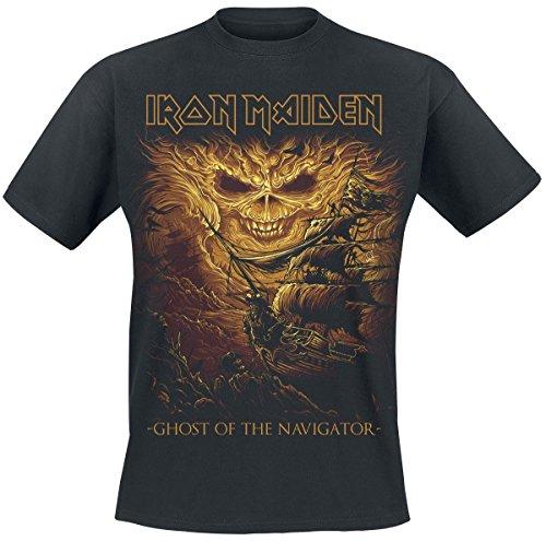 Unbekannt Iron Maiden Ghost of The Navigator T-Shirt Schwarz M (Iron Maiden-t-shirt)
