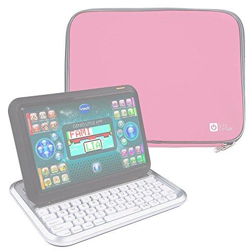 DURAGADGET Funda De Neopreno Rosa Compatible Con Ordenador portátil y tablet educativo VTech - Genio Little App - Resistente Al Agua