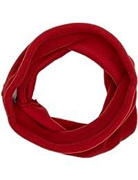 Buff - Braga de cuello para niños (forro polar), color Rojo( Samba), talla única