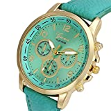 Montre à Quartz de Genève Trois Yeux Exquis Montre à Quartz Intelligente Horloge...