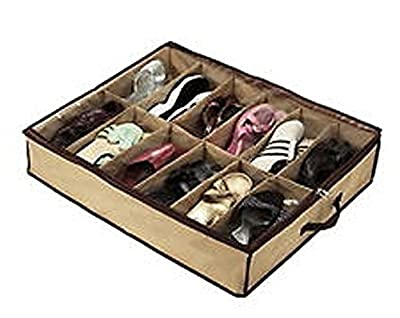 Big Bargain 12 Pairs Tidy Under Bed Fabric Shoe Storage Organizer Holder Box Closet Bag Case produced by Big Bargain - quick delivery from UK.