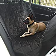 Topist Dog Car Seat Cover,Super Durable Soft Heavy Gauge Double Layer Waterproof Fabric Back Seat Covers Travel Hammock with Pet Dog Car Seat Belt