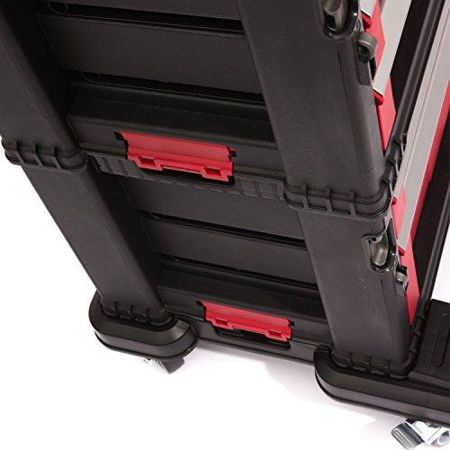 Keter 5 Drawer Tool Chest Set Acetal Slides, 1 Stück, schwarz / rot / silber, 17199301 - 7