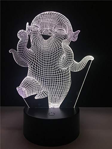 Llhyd Film Monster Charakter 3D Led Nachtlicht Tischlampe 7 Farbe Optische Täuschung Lampe Für Leben Bett Zimmer Bar Beste Geschenk Spielzeug - Film-monster-spielzeug