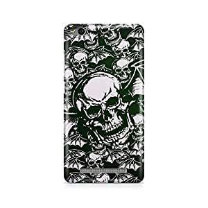 Printed back cover for Xiaomi Redmi 3s by Motivatebox.Skulls design, Polycarbonate Hard case with premium quality and matte finish