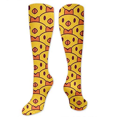 Gped Kniestrümpfe,Socken A Group of Small Yellow Chickens Compression Socks,Knee High Socks,Funny Socks for Women Men - Best Medical,Sports,Running, Nurses,Maternity,Pregnancy,Travel & Flight Socks -