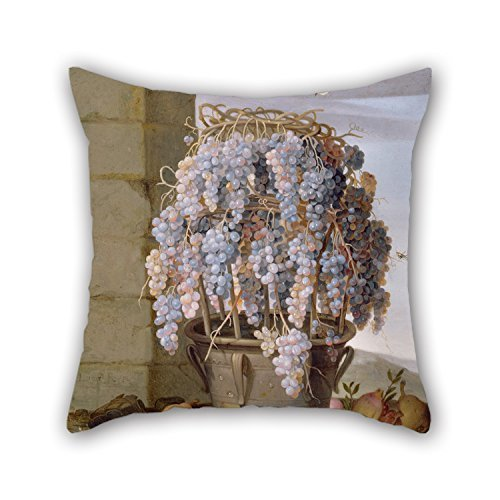 beautifulseason Oil Painting Luca Forte (Italian (Neapolitan) - Still Life with Grapes and Other Fruit Throw Pillow Case 16 X 16 Inches/40 by 40 cm Best Choice for Chair Sofa Him Home Theater Liv (Boston Home-theater)