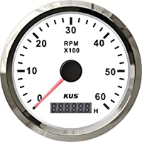 Kus tacómetro con hora medidor 0–6000rpm para motor Diesel 85mm 12V/24V