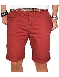 Stylische Herren Sommer Bermuda Shorts kurze Chino Hose inkl. Gürtel B84
