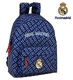 Safta Real Madrid - Mochila Escolar, 42 cm, Azul