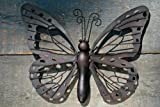 Wandhänger Schmetterling Metall Wandbild Dekohänger Dekobild 38 x 28 cm