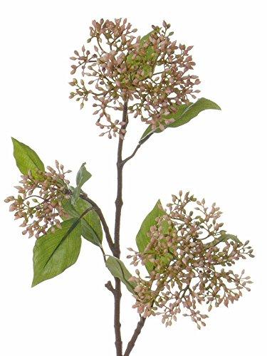 artplants Künstlicher Hartriegel Cornus Zweig KIBUM, rosa-grün, 70 cm - Deko Blumen/Künstlicher Zweig (Hartriegel-künstliche Blume)