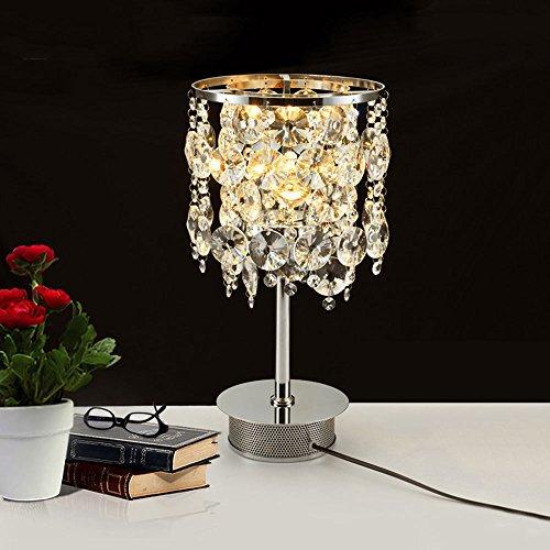 Kreative vertikale LED Tischlampe einfache moderne K9 Kristall Lampe auf das Schlafzimmer Bett Bett Wohnzimmer Studie Villa - Schlafzimmer Messing Bett