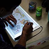 Light Pad A4 LED Drawing Board, Copy Board Tracing Pads Super Thin USB Powered, Brightness Adjustable by Stepless Memory for Kids Sketching, Tattoo, Sketch, Architecture, Calligraphy.