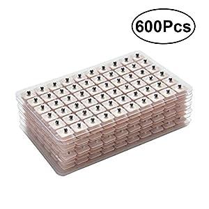 ROSENICE 600 Stücke Ohrsamen Pflaster Vaccaria Seed für Ohr Akupressur (10 Blätter)