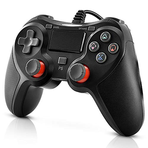 Newseego PS4 Controller Wired Controller für Playstation 4, Wired PS4 Controller Dual Vibration Schock Gaming Joystick Gamepad Fernbedienung für Play Station 4/ PC/PS4 Pro/PS4 Slim mit 2m USB-Kabel