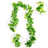 ZWOOS Plantas Hiedra Artificial Enredaderas Colgantes Verde