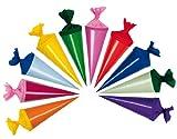 alles-meine.de GmbH 10 Stk. Schultüte 4,8 cm - Rund -  Geschenktüte Klein  - Dekoration Zuckertüte Deko für Schulanfang Dekotüten - Tischdeko / Tischdekoration - Zuckertüten