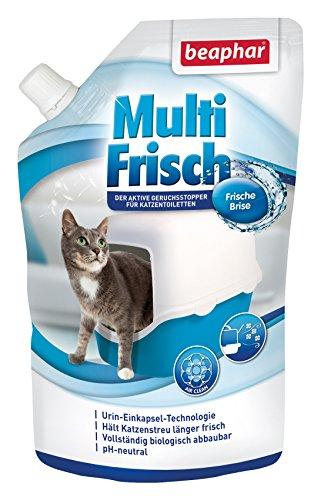 beaphar Multi Frisch Frische Brise | Geruchsneutralisierer für Katzenklos | Verlängert die Haltbarkeit von Katzenstreu | Duft nach frischer Brise | 400 g -