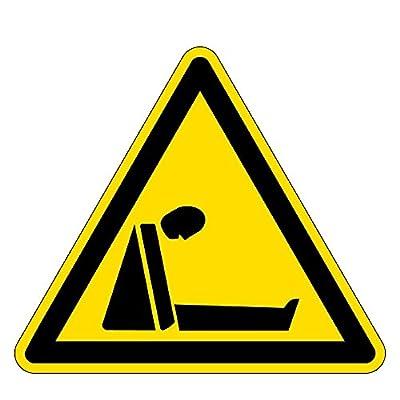Warnzeichen - Warnung vor Ersticken durch Sauerstoffmangel - Aluminium Selbstklebend