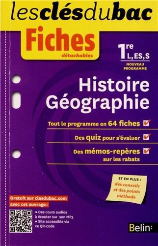 Histoire géographie 1e L, ES, S : Fiches détachables