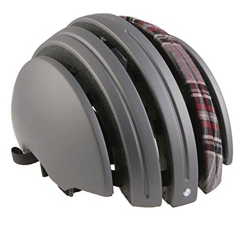 Brooks J.B. Special faltbarer Helm Grau Karo Leder Urban Fahrradhelm Leder Fixie Brooks England, 80110, Größe M (55 - 58 cm)