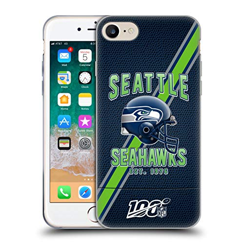 Head Case Designs Offizielle NFL Football Streifen 100ste 2019/20 Seattle Seahawks Soft Gel Huelle kompatibel mit iPhone 7 / iPhone 8
