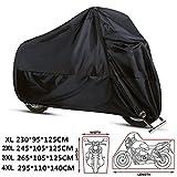 ANFTOP Funda Protector para Moto de 210D tela impermeable Cubierta para Moto / Motocicleta , Resistente al Agua a Prueba de UV polvo Color Negro 4XL / XXXXL