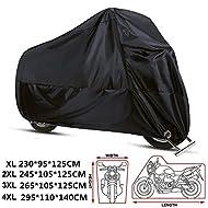 Materiale: tessuto 210D OXF con rivestimento in PU  Dimensioni disponibili:  XL (230 * 95 * 125 CM)  2XL (245 * 105 * 125 CM)  3XL (265 * 105 * 125 CM)  4XL (295 * 110 * 140 CM)   La confezione include:  1X ANFTOP Copri moto  1X Borsa di archiviazion...