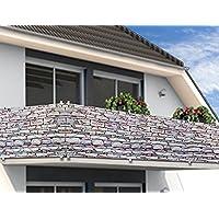 Protector Visual para Balcón/Cierre de Jardín - 5 m Piedra/Muro