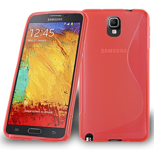 Preisvergleich Produktbild Cadorabo DE-105297 Samsung Galaxy Note 3 Handyhülle aus flexiblem TPU Silikon im S-Line Design Rot