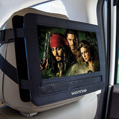 WONNIE Auto Kopfstützenhalterung für Drehgelenk & Flip Tragbarer DVD Player KFZ Kopfstütze Halterung Gehäuse (Black) (10.5 inch) - 6