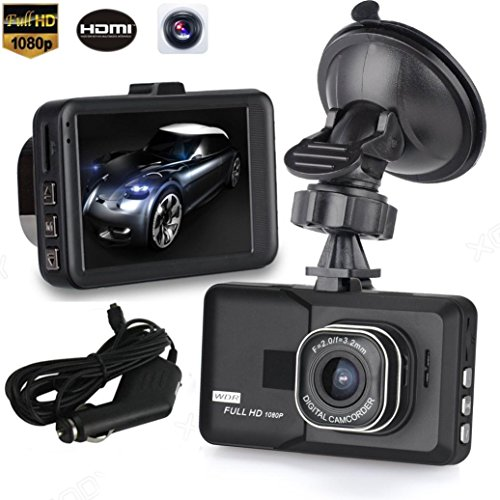 Voberry Dash Cam, 3 ' LCD HD 1080p Auto Fahrzeug Video Dash Cam Recorder Kamera DVR HDMI G-Sensor
