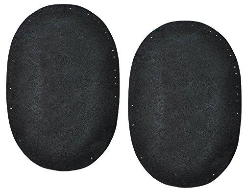2-stk-wildleder-echtes-leder-flicken-schwarz-10-cm-155-cm-oval-zum-aufnhen-aufnher-applikation-xl-fo