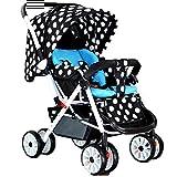 Spaziergänger-Metallrahmen, der Portable faltet, Wahl für Eltern-Kind Reise. (Farbe : 2#)