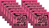 Ernie Ball P02223 Jeu de cordes guitare électrique Super Slinky 9-42 (Pack de 12 PCs)