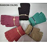 GRAPPLE DEALS Winter Wear Beautiful Finger Cut Woolen Women's, Girl's Knitted Hand Gloves (Any - Color) 1 Pcs