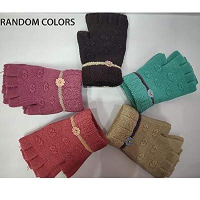 GRAPPLE DEALS Winter Wear Beautiful Finger Cut Woolen Women's, Girl's Knitted Hand Gloves (Any - Color) 1 Pcs