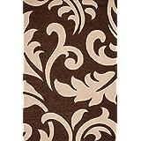 """Sona-Lux diseño de Alfombras tejidas a mano moderno moca """"Seleccionar el tamaño"""" 200 x 290 cm"""