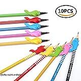 Guide-doigts pour stylos, crayon et stylos ergonomiques pour droitiers et gauchers, porte-stylo en caoutchouc avec 10pièces, dans différentes couleurs